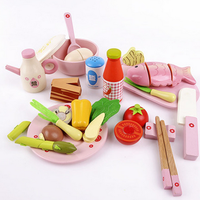 Environmental Safety Educational Toy Kids Wooden Kitchen Toy Set