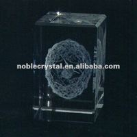 3D Laser Engraved Petersburg Egg Dove Crystal Souvenirs Crystal Gifts Cube