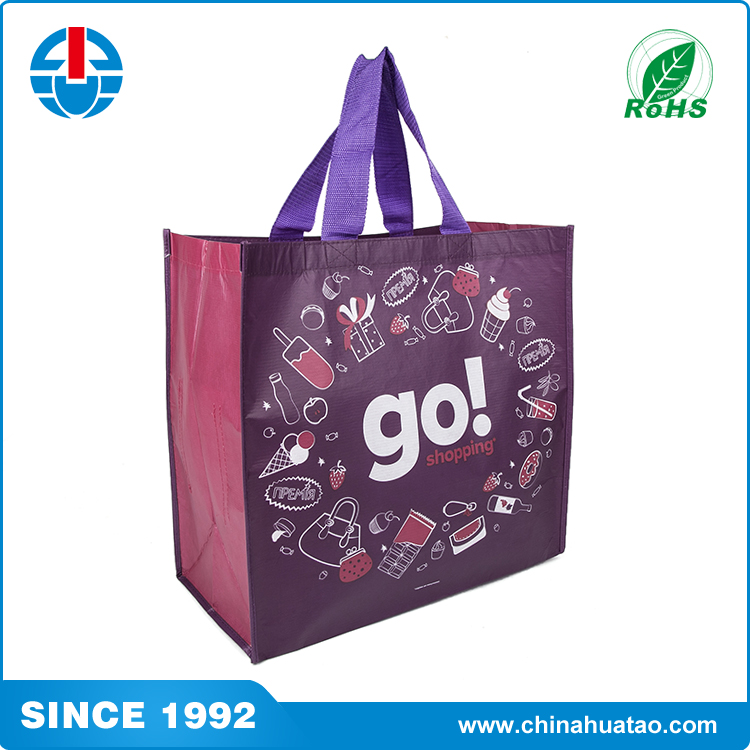 Fugang Reycle Low Price Fashion PP Non Woven Lamination Shopping Bag
