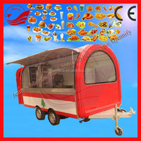 Different Models Commercial Food Trailer Kiosk Catering Cart Food Vending Carts