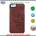 2016 hot laser engraving bamboo wooden mobile phone case for iphone 6 6s bamboo wood case with pc oak IPC337H