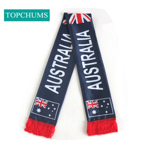 custom bouncy british Canada USA uae national flag scarf