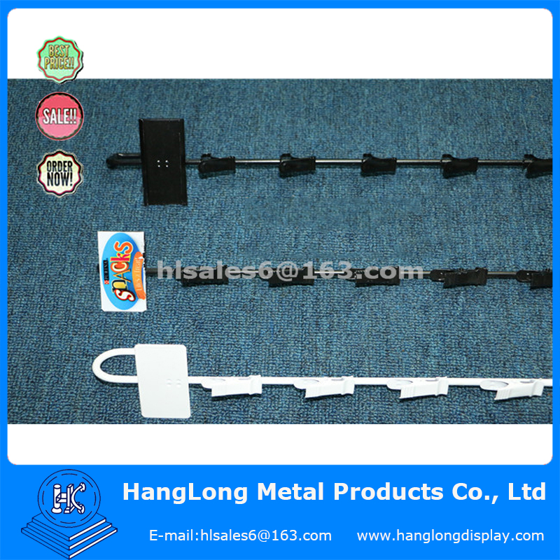 Metal Supermarket metal Hanging 12 Clip Strip Display with Sign Plate
