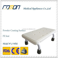 Bathroom Safety Shower Step with Plastic Top, Compact & Portabe Steel Frame Shower Foot Stool BSCI Factory Direct