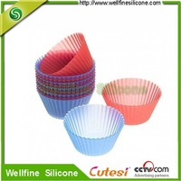 FDA and LFGB approved Silicone muffin cupcake pan with round-caliber