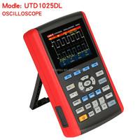 Handheld Digital Storage Oscilloscopes UNI-T UTD1025DL 2Channels 25MHz Oscilloscope Scopemeter 250MSs & Multimeter DMM 2in1 USB