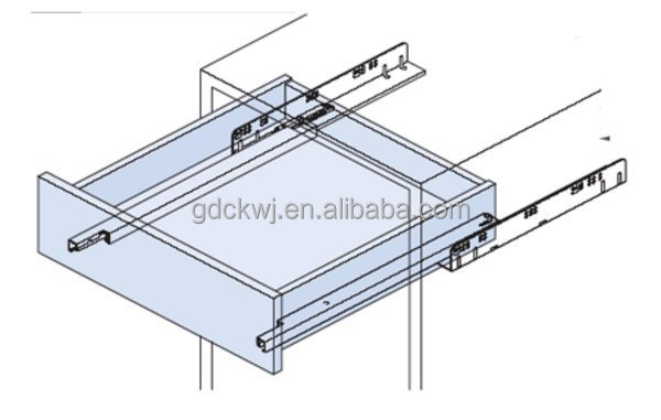 stainless steel kitchen cabinet heavy duty drawer channel soft close drawer slides for furniture