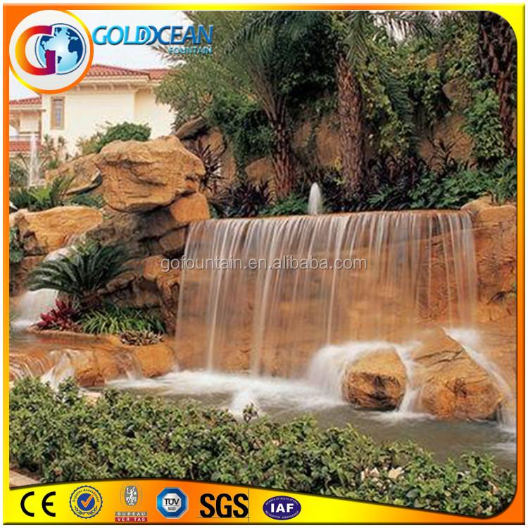 muro cascata fontana artificiale moderna fontane a muro