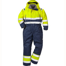Star SG Hi vis Mens waterproof oil resistant insulated winter working coverall