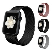 for apple band milanese watch,hot selling promotional for apple band milanese style magnetic closure watch band