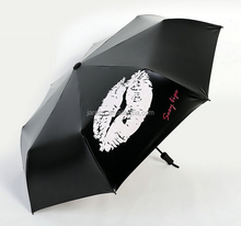change color when wet umbrella manual 3 fold vinyl umbrella