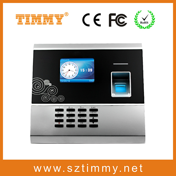 multi biometric identification terminal biometric finger prints clock with free SDK