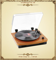 High Quality wooden Stereo dj technics multiple turntables record player