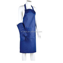 KY40004 100% cotton kitchen cooking apron and glove