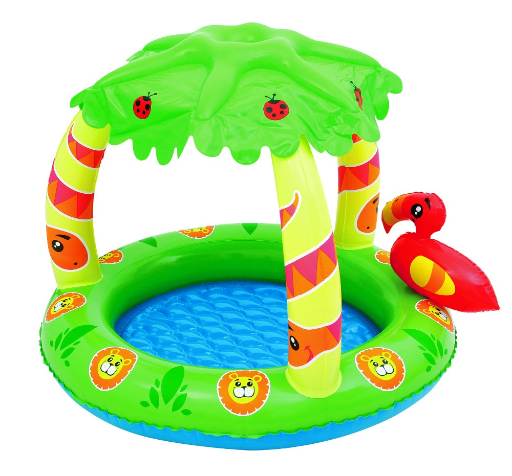 Bestway 52179 inflatable palm tree sunshade jungle play pool for children