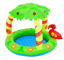 Bestway inflatable palm tree sunshade jungle play pool for children