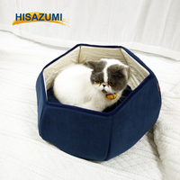High quality Suede fabric cat house round pet dog bed cushion