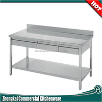 Industry Kitchen Stainless Steel Working Table With Drawer/Hot Selling Used Restaurant Equipments