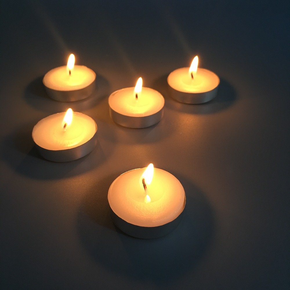 quick shipment less smoke online decorative tea light candles