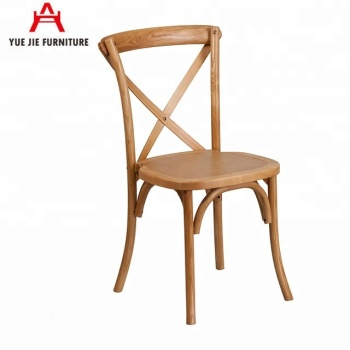 Stackable European Style Cross Back Chair