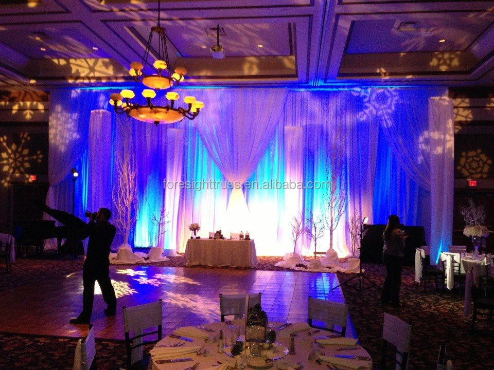 innovative systems adjustable aluminum pipe and drape kits for wedding