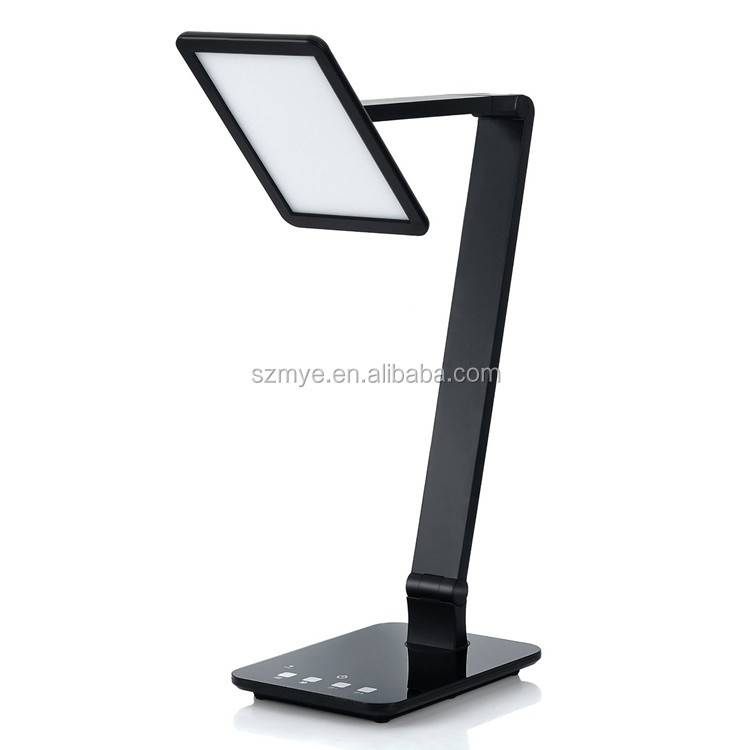 Led folding dimmable usb rechargeable led bedside official reading desk lamp light