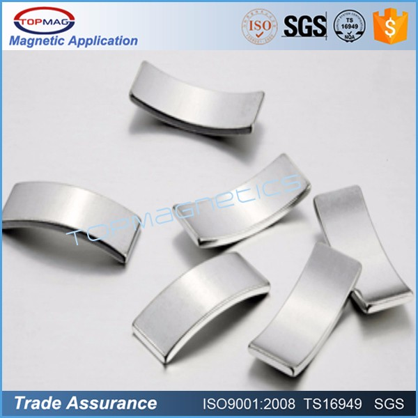 Less Expensive NdFeB Permanent Motor arc Magnets