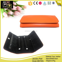 Easy Carrying PU Leather Covered Travel Jewelry Roll,Jewelry Bag,Jewelry Pouch