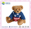 Flag Sweater Teddy Bear Plush Stuffed Toy