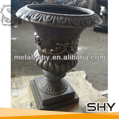 High Quality Outdoor Cast Iron Flowerpot for Garden