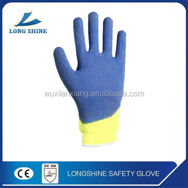 Thumb dipped latex coated safety gloves