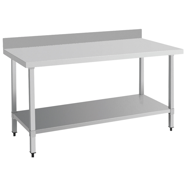 Industrial flat top work bench/ stainless steel kitchen <strong>table</strong> with backsplash BN-W08