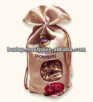 customized drawstring jute bag