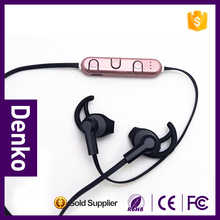 2016 new physical activity usage low price Bluetooth wireless sports headphones ear buds with soft ear hook and silicone caps