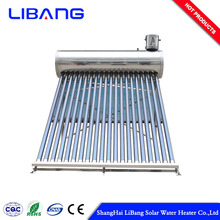 Swimming thermosiphon water heater system conical pool solar collector