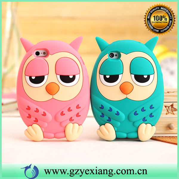 Cheap Price Mobile Phone Cartoon Owl Silicon Gel Case For Samsung Galaxy A310