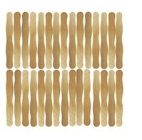Wavy Jumbo Wood Craft Sticks