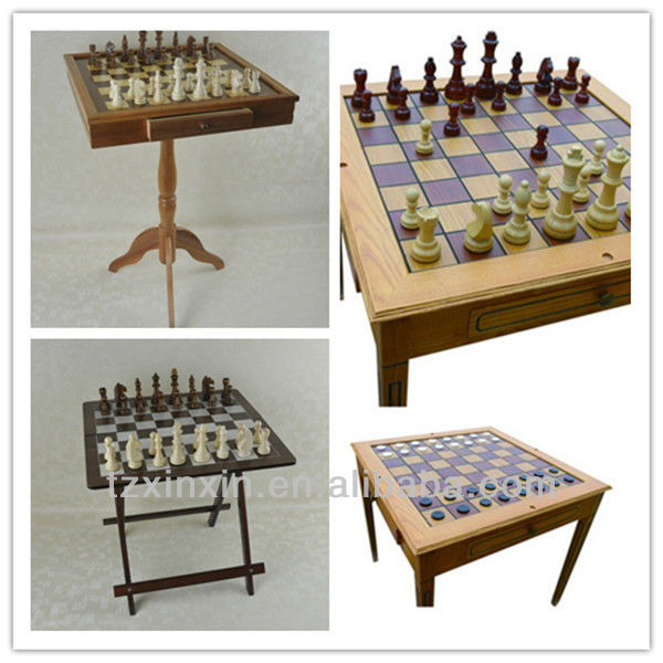 Wooden Indoor and Outdoor Foldable Chess table for Family