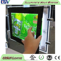 Crystal frame advertising led window poster display