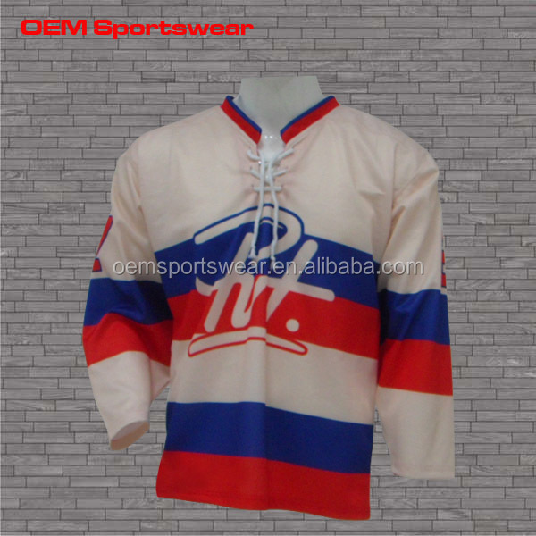 2016 polyester blank Sublimation printing ice hockey jerseys