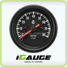 85mm auto gauge 8000 rpm tachometer for marine