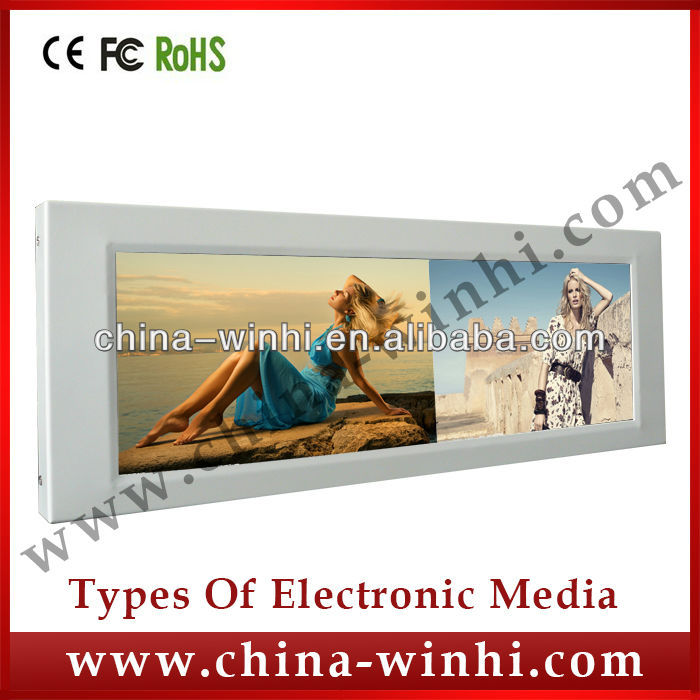 15 inch HD bar type screen led tv advertising display supermarket shelf indoor advertising