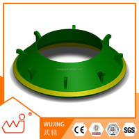 High chrome board instant crusher spares model number for Telsmith 57SBS bowl liner customized for brand crusher parts