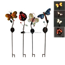 SCL0161 metal solar garden stake light,dragonfly,butterfly,bee,ladybird