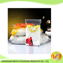 Clear OPP+CPP Plastic Ziplock Clothing Bag Without Printing