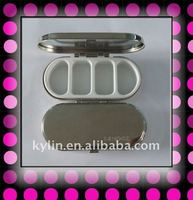 oval shape with mirror gift metal pill box.