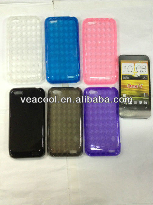 Soft TPU Case Skin Cover for HTC One V T320e case