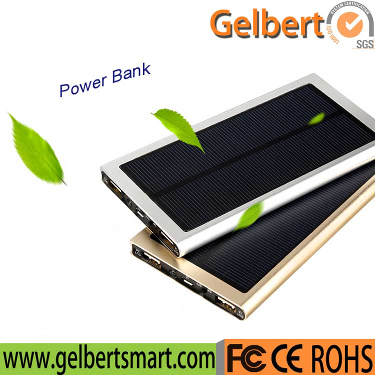 New Slim Portable Multiple Port Solar Charger with RoHS