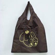custom cheap 190t bear polyester foldable shopping bag