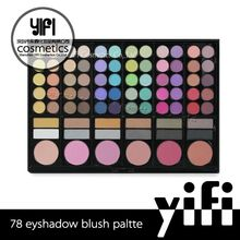 78 colors cheap eyeshadow palette with 60 shadows 12 highlight & liner shades 6 blush shades